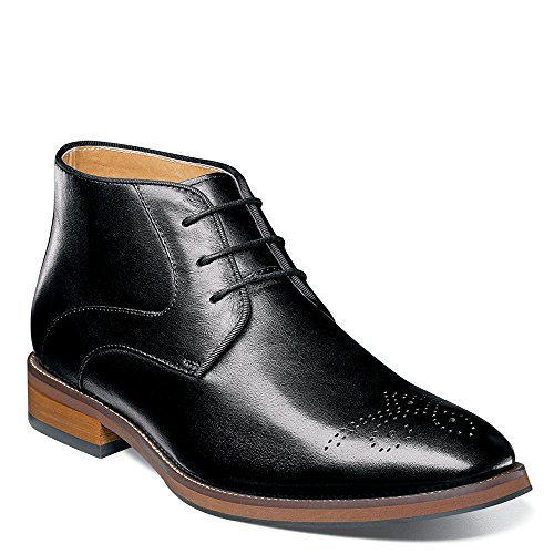 Florsheim  Men's Blaze Chukka Boot Black Smooth (Black Smooth Chukka)