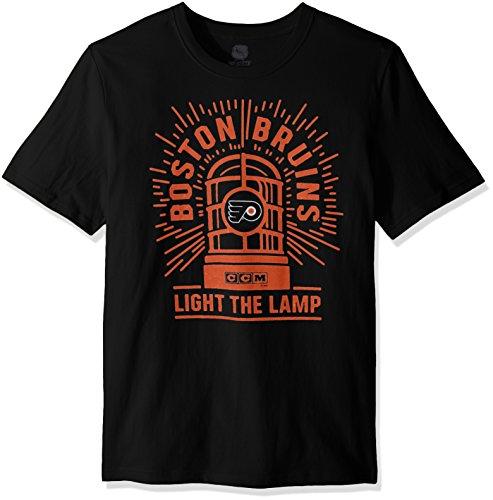 (NHL Philadelphia Flyers Adult Men Light the Lamp S/Brushed Tee,Large,black)