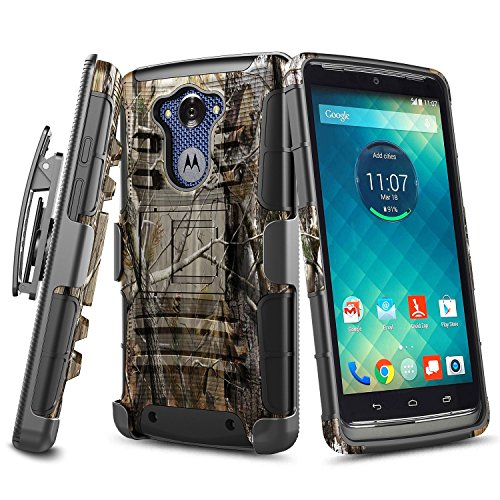 NageBee Droid Turbo Case, [Heavy Duty] Armor Shock Proof Dual Layer [Swivel Belt Clip] Holster with [Kickstand] Combo Rugged Case for Moto Droid Turbo XT1254(Fits Ballistic Nylon Version)-Camouflage