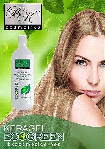 Keratin BK Cosmetics KeraGel Eco-Green Treatment (33.8 Oz) by BK Cosmetics