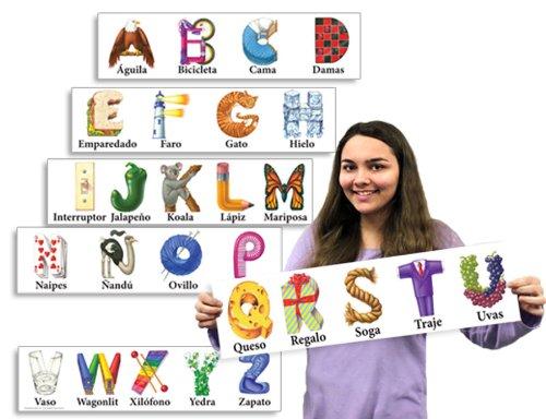 Spanish Kern Alphabet Strips -