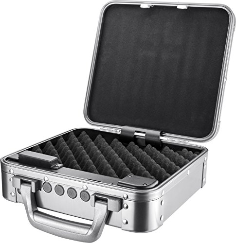Silver briefcase with lock