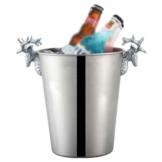 Compra HWZGXWL Deer Head Champagne Bucket High-Grade Acero ...