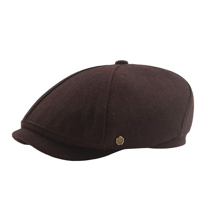ToVii - Boina Gorra Newsboy Hat de Otoño Invierno Flat Cap Sombrero Beret Plano con Visera de Vendedor Periódicos Clásico Arte para Hombre Mujer