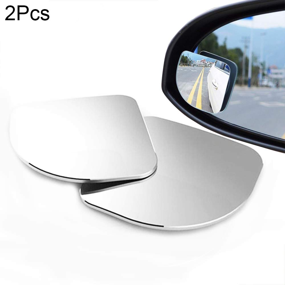 Eadorns 2pcs Adjustable HD Glass Convex Car Motorcycle Blind Spot Mirror for Parking Rear View