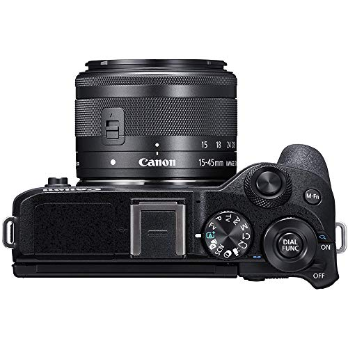 Canon EOS M6 Mark II Mirrorless Digital Camera with 15-45mm Lens Kit (Black) + Wide Angle Lens + 2X Telephoto Lens…