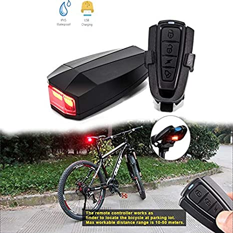 Qbisolo Luz Trasera para Bicicleta, Alarma antirrobo USB de ...