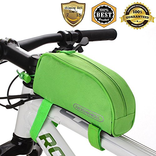 Meanhoo Bicycle Handlebar Frame Front Top PVC Tube Bag Trunk Bag Handbag Bicycle Pack Accessories Outdoor Activity - Green Practical New (Trunk A Treat Ideas)