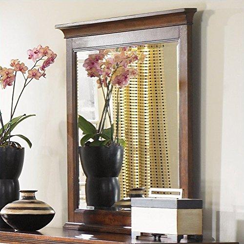 Magnussen Set Dresser - Magnussen B1398 Harrison Cherry Finish with Antique Brass Hardware Wood Framed Landscape Mirror