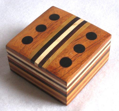Wooden Inlaid Dice Box / Jewelry Box / Storage Box. ( 3.4