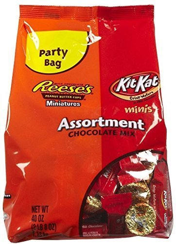 Kit Kat / Reese's Assorted Miniatures 40 oz Bag and Hershey's Milk Chocolate Kisses 40 oz Bag (Set of (Halloween Candy Making Kit)