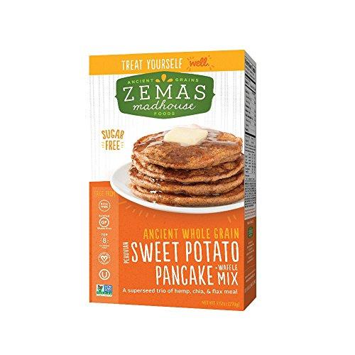Vegan Pancake Mix - Zemas Mix Waffle Pancake Gluten Free Sweet Potato, 9.66 oz
