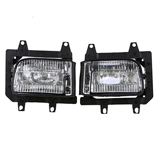 Bmw Fog Light Bracket (Fog Lights,POSSBAY Pair Car Front Bumper Lamps Bracket for BMW 3 Series E30 Sedan 1983-1994)