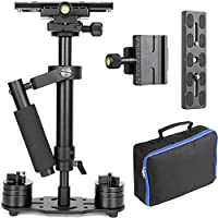ChromLives Camera Stabilizer DSLR Handheld Stabilizer w/ Quick Release Plate 1/4 Pro Version for Video Camera DSLR Nikon Canon Sony Panasonic DV (Black)