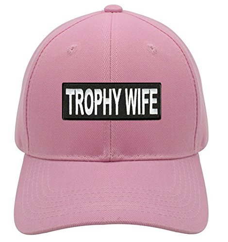 Trophy Wife Hat - Pink Adjustable Womens - Funny Married Cap