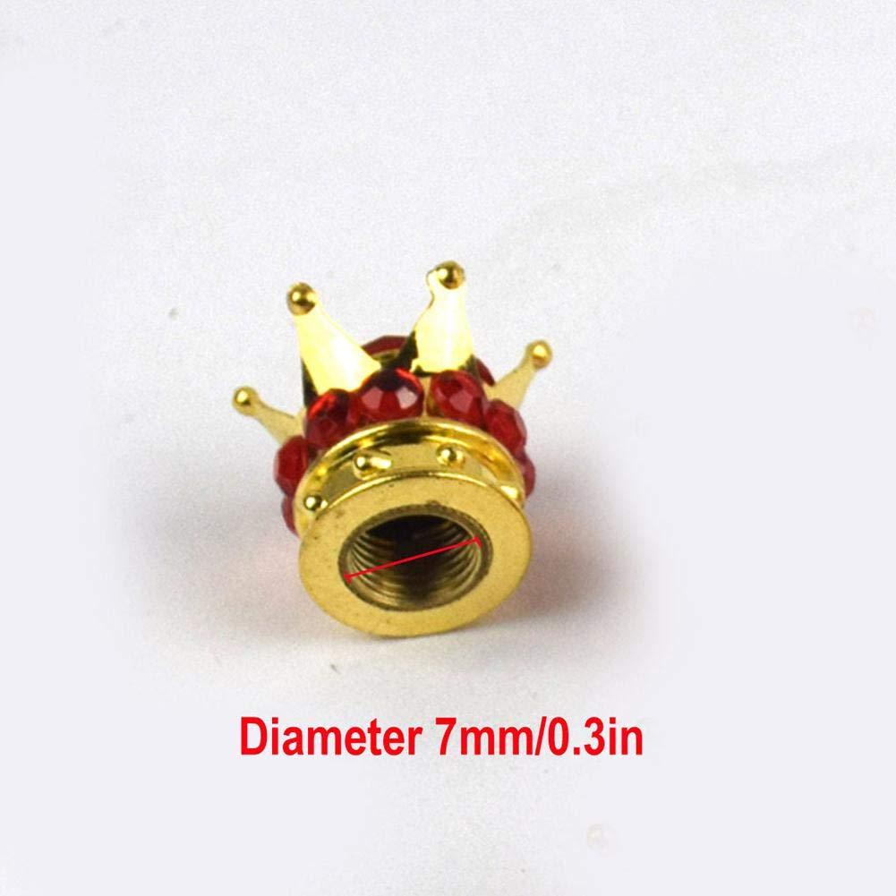 Cappuccio della valvola della valvola Universale Shengshibaiying valvola Pneumatico Auto Tappo della Gomma per Auto modificato Innovativo Tappo della valvola della Corona 4 Pezzi