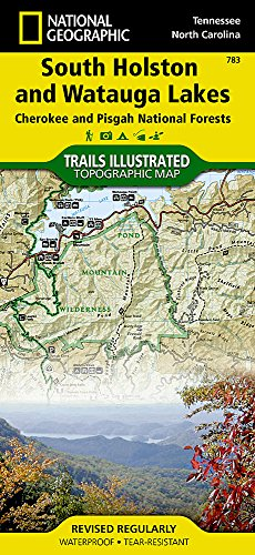 South Holston and Watauga Lakes [Cherokee and Pisgah National Forests] (National Geographic Trails Illustrated Map)