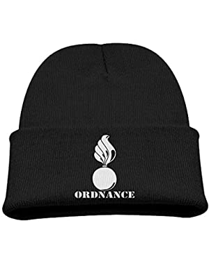 Army Ordnance Shell and Flame Branch Boy Girl Beanie Hat Knitted Beanie Knit Beanie