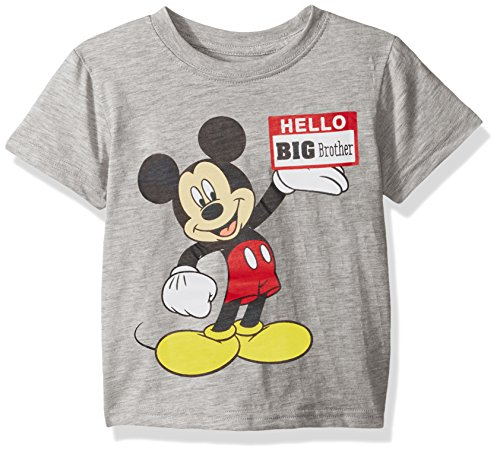 Price comparison product image Disney Little Boys' Mickey Mouse Big Brother T-Shirt Shirt,  Grey