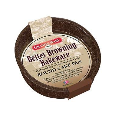 Granite Ware F0622 Better Browning 8-Inch Round Cake Pan