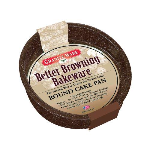 (Granite Ware Better Browning Round Cake Pan, 8-inch)