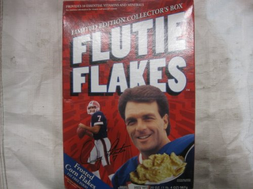 Price comparison product image Kellogg's Flutie Flakes Limited Edition Collector's Box With Doug Flutie On Front & Back 1999 Box Is Empty