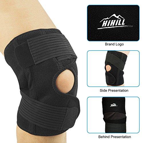 HiHiLL Knee Brace Support, Open Patella Stabili...