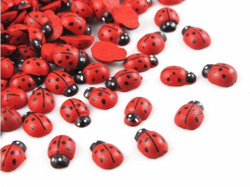 Wholesale 150pc Red Wood Flatback Ladybug Button/bow/hot/ Appplique