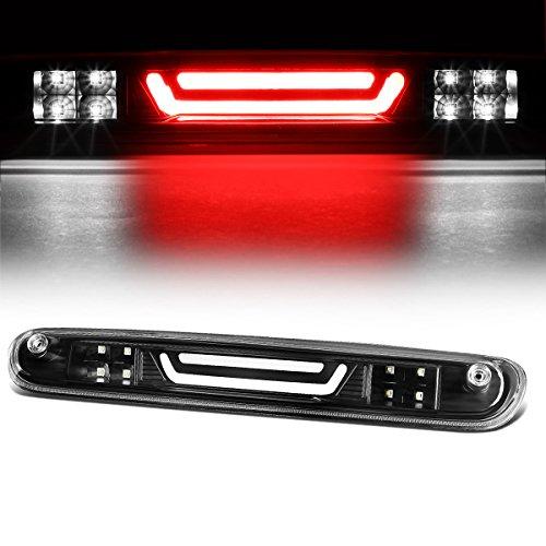 For Chevy Silverado/GMC Sierra 3D LED Bar 3rd Third Tail Brake Light Rear Cargo Lamp (Black/Clear)