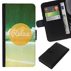 JackGot ( Relax Beach ) HTC DESIRE 816 la tarjeta de Crédito Slots PU Funda de cuero Monedero caso cubierta de piel