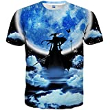 Hgvoetty T Shirts 3D Cartoon Printed Women/Men Short Sleeve T-Shirts Tees XL