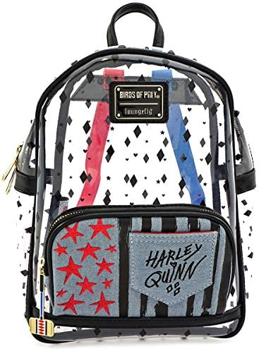 Loungefly x Birds of Prey Harley Quinn Clear Mini Backpack