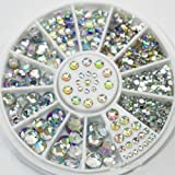 CJESLNA GREAT MIXED DIY SIZE GLITTER RHINESTONES CHARM 3D NAIL ART DECOR ACCESSORIES (multi color)