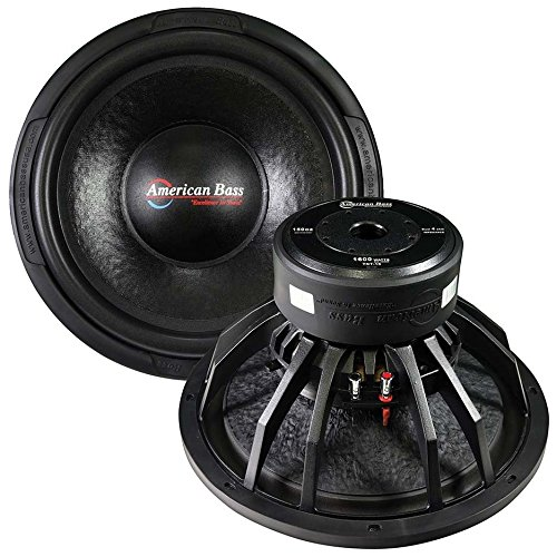 American Bass 15 Inch Audio Woofers 1600 Watts Max 4 Ohm Dvc