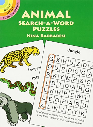 Animal Search-a-Word Puzzles