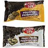 Enjoy Life Semi-Sweet Chocolate Chips Variety Pack (3 Mini Chips, 3 Mega Chunks)