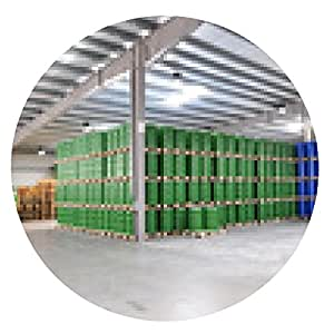 alfombrilla de ratón Almacén de la planta química / depósito de la industria - ronda - 20cm