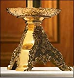 Roma Collection Polished Brass Short Altar Candlestick, 8 Inch