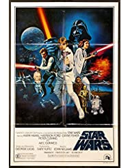 STAR WARS GEORGE LUCAS 1977 100% AUTHENTIC STYLE C 1-SHEET