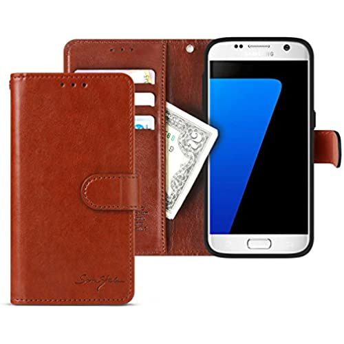 Galaxy S7 Edge Case Wallet, Tridea [Card Pockets][Flip][Magnetic Closure][Slim Fit] Premium Synthetic Leather Sales