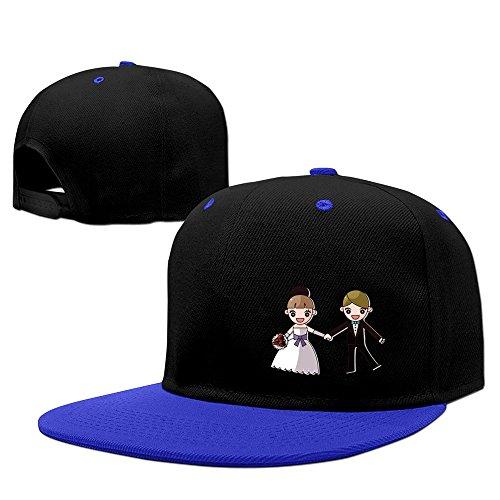 Wedding Couple Series Jump Hard Panel Snapback Hat RoyalBlue