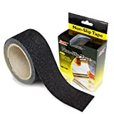 Non Slip Safety Tape - S&X Strong Adhesive Anti Slip Grip Tape High Traction Anti Skid Tread Slip Resistant Stickers for Outside/Deck/Stairs/Truck/Shoe Soles (Black)