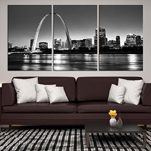 Home Decor St Louis Mo: Amazon.com: St Louis Skyline Wall Art By Sami Eymur
