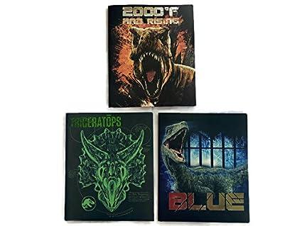 Amazoncom Jurassic World School Supplies Bundle Of 3 Poly Folders