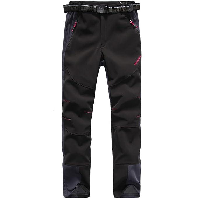 FLYGAGA Womens Softshell Trousers Hiking Trousers Ski Pants Fleece Lined Waterproof Warm Outdoor Trousers for Camping Trekking Walking Hiking Ski