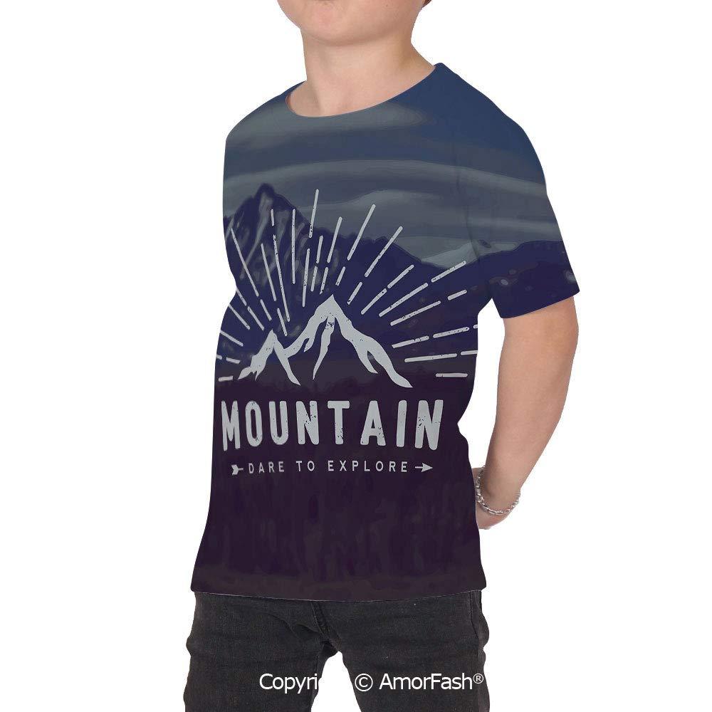 Adventure Distinctive Childrens Premium Polyester T-Shirt,XS-2XL,Dare to Explor