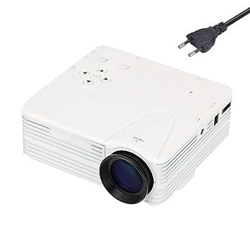 Fgyhty Mini proyector LED portátil de 1920 x 1080 píxeles Full HD ...