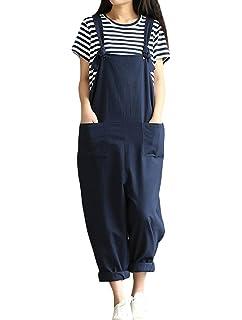Minibee Womens Maple Leaves Print Pattern Jumpsuits//Overalls