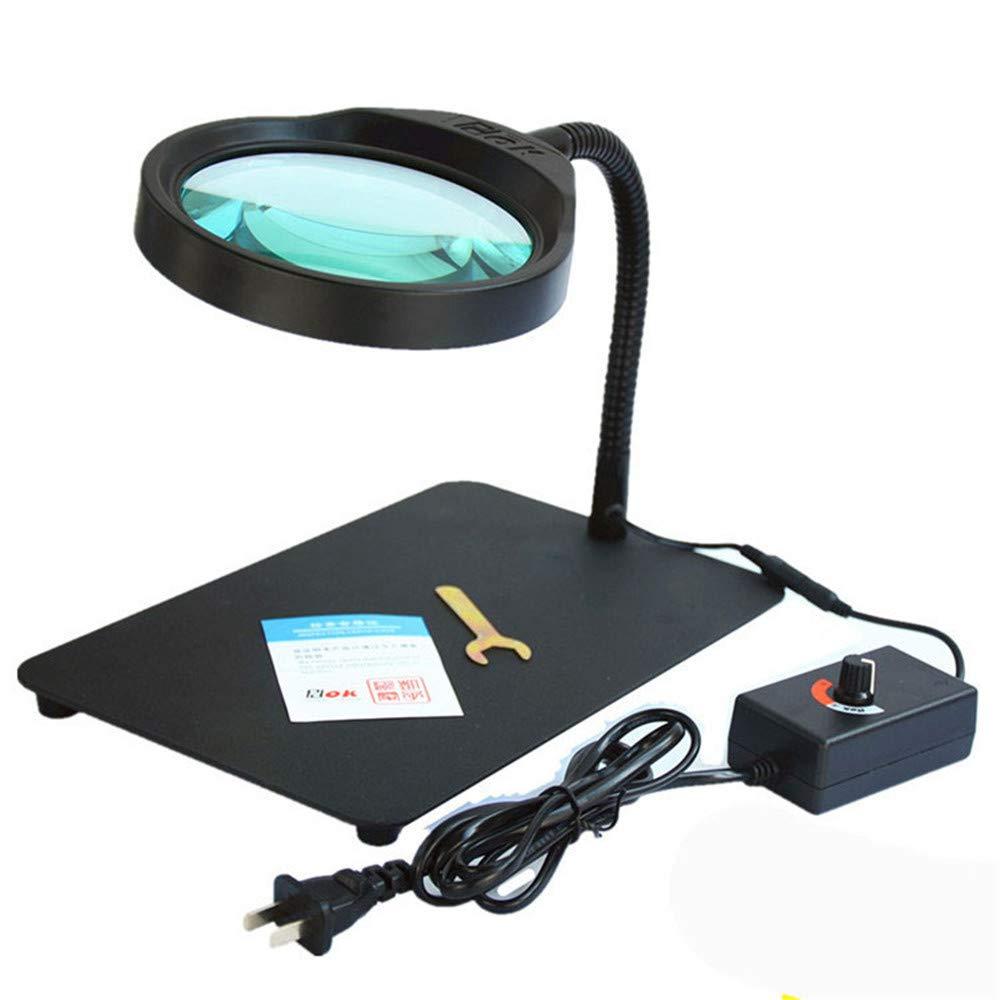 Morph33 10 Veces HD con Brillo Ajustable Leds de la lámpara Leds Ajustable una lupaMagnifying Glass Desktop Maintenance Atención Visual asistiva e4452f