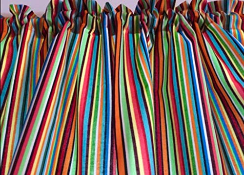 Colorful Fiesta Stripes Tiers or Curtain Panels 43